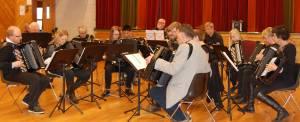 Skienfjordens Trekkspillklubb stilte i klassene for både gammeldans og underholdningsmusikk.